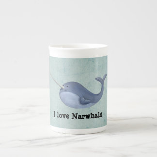 Amo Narwhals Taza De Porcelana