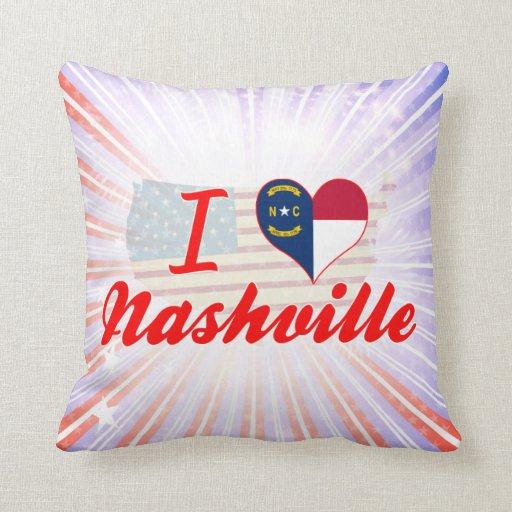 Amo Nashville, Carolina del Norte Almohada