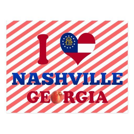Amo Nashville, Georgia Tarjeta Postal