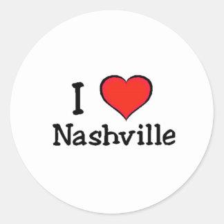 Amo Nashville Pegatina Redonda