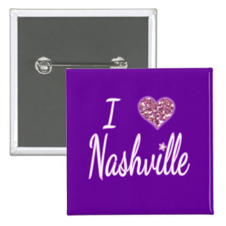 Amo Nashville Pin Cuadrada 5 Cm