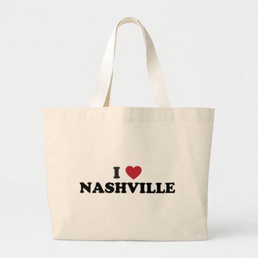 Amo Nashville Tennessee Bolsa De Tela Grande