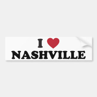 Amo Nashville Tennessee Etiqueta De Parachoque