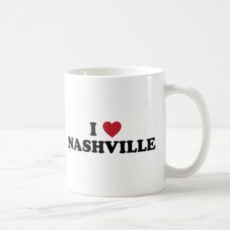 Amo Nashville Tennessee Taza Básica Blanca