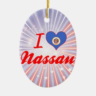 Amo Nassau, Minnesota Adorno Navideño Ovalado De Cerámica