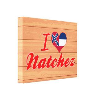 Amo Natchez, Mississippi Lona Estirada Galerías