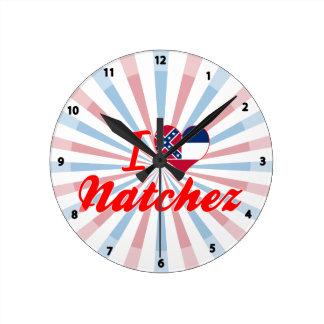 Amo Natchez, Mississippi Reloj De Pared