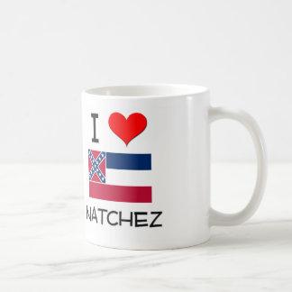 Amo Natchez Mississippi Taza Básica Blanca