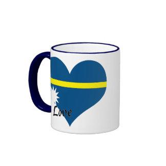 Amo Nauru Taza De Dos Colores
