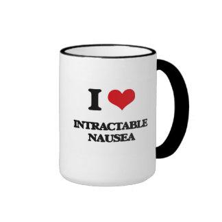 Amo náusea insuperable taza a dos colores