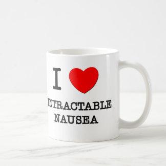 Amo náusea insuperable taza básica blanca