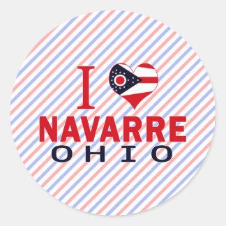 Amo Navarra Ohio Pegatinas Redondas