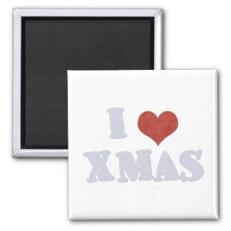 Amo Navidad Imán Cuadrado