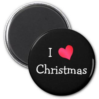 Amo navidad imán redondo 5 cm