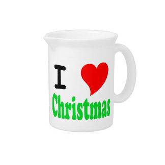 Amo navidad jarra para bebida