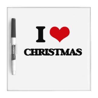 Amo navidad pizarras