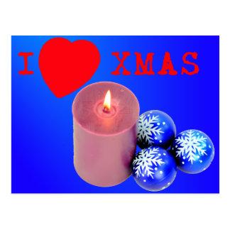 Amo Navidad Tarjeta Postal