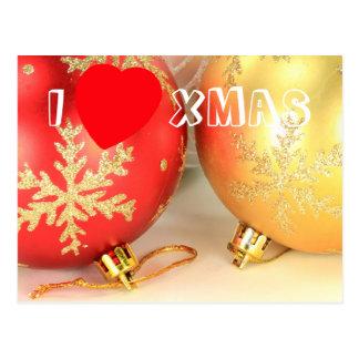 Amo Navidad Tarjetas Postales