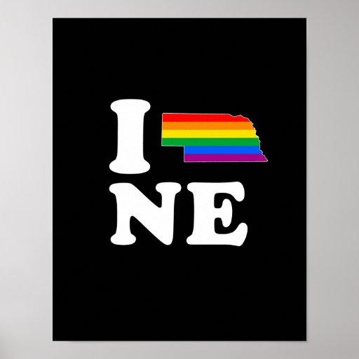 AMO NEBRASKA GAY - BLANCO - .PNG POSTERS