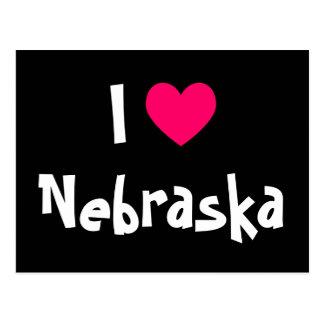 Amo Nebraska Tarjeta Postal