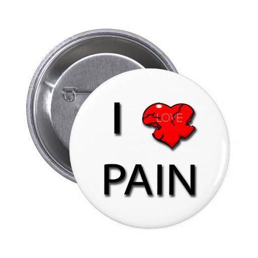 Amo negro del corazón del dolor pin