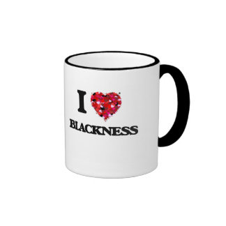 Amo negrura taza de dos colores