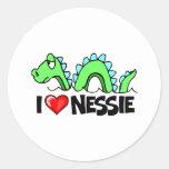 Amo Nessie Pegatina Redonda