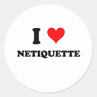 Amo Netiquette Etiquetas Redondas