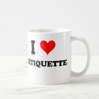 Amo Netiquette Taza