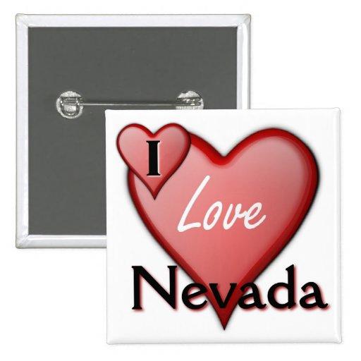 Amo Nevada Pin Cuadrada 5 Cm