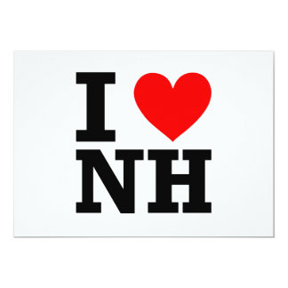 """Amo New Hampshire Invitación 5"""" X 7"""""""
