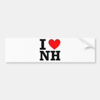 Amo New Hampshire Pegatina Para Auto