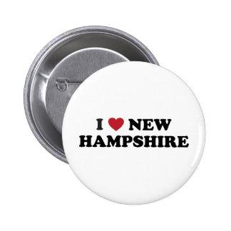 Amo New Hampshire Pin Redondo 5 Cm