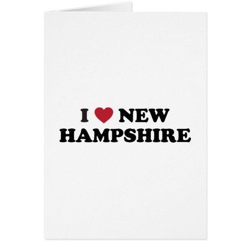 Amo New Hampshire Tarjeta De Felicitación