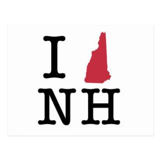 Amo New Hampshire Tarjetas Postales