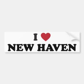 Amo New Haven Connecticut Pegatina Para Auto