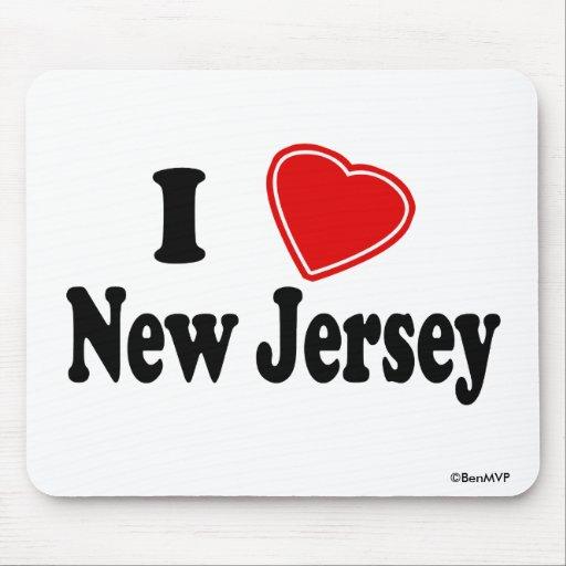 Amo New Jersey Alfombrillas De Ratones