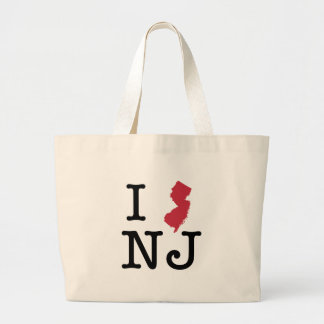 Amo New Jersey Bolsa Lienzo