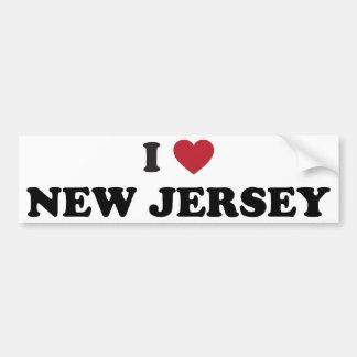 Amo New Jersey Pegatina Para Auto