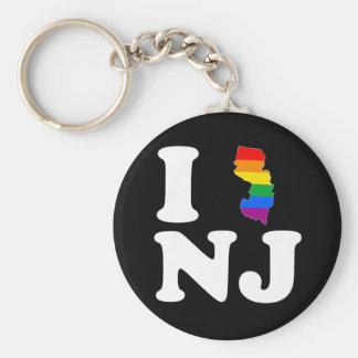 AMO NEW JERSEY GAY - BLANCO - .PNG LLAVEROS PERSONALIZADOS