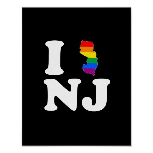 AMO NEW JERSEY GAY - BLANCO - .PNG POSTER