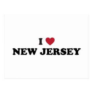 Amo New Jersey Postales
