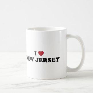 Amo New Jersey Taza Básica Blanca