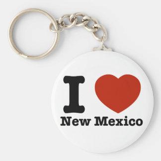 Amo New México Llavero Redondo Tipo Pin