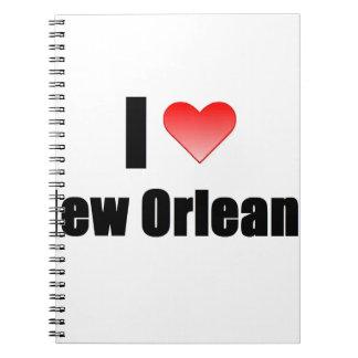 Amo New Orleans Libreta Espiral