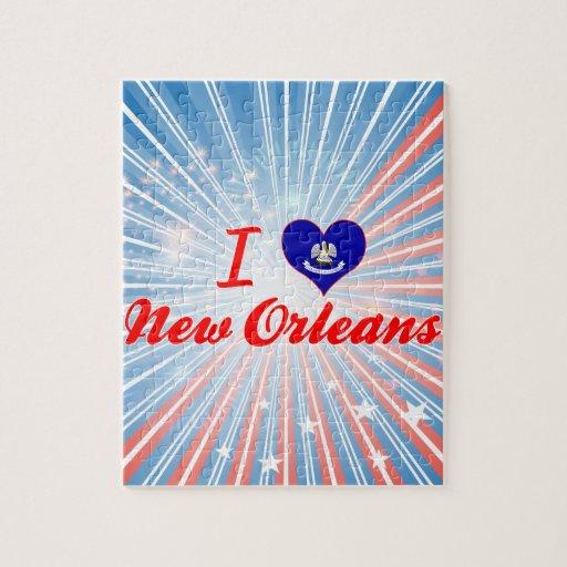 Amo New Orleans, Luisiana Rompecabezas Con Fotos