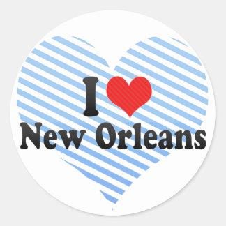 Amo New Orleans Pegatina Redonda