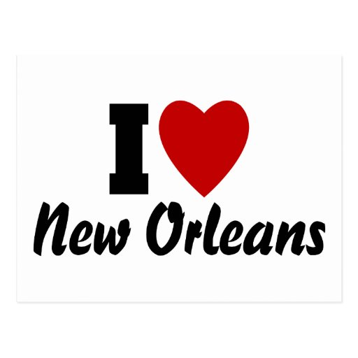 Amo New Orleans Tarjeta Postal