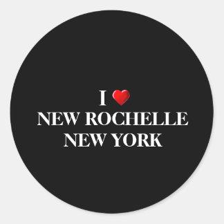 AMO NEW ROCHELLE, NUEVA YORK ETIQUETAS REDONDAS
