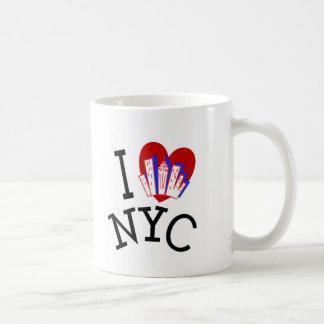 Amo New York City Taza Básica Blanca